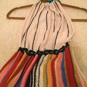 Brand new Free People cotton halter dress long